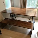 値下げしました!自作ダイニングテーブルとベンチのセット