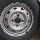 中古タイヤ、ホイール付 145R12 6PR 4本
