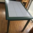 イタリア製テーブル タイル×ウッド