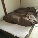 9/10まで!過ぎれば処分致します。ベッド&羽毛掛け布団