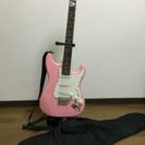 エレキギター ピンク