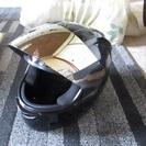 NR-7ヘルメット 黒 ミラーシールド 傷あり 新品クリアーシール...