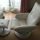 リクライニング シート 椅子 チェアー 白/ホワイト