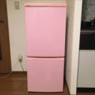 SHARP 冷蔵庫 2ドア  ピンク