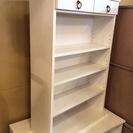 【家具】棚 シェルフ 収納 引き出し 白