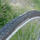 無料!ジャンク自転車タイヤ一本、26インチシティサイクル(ママチャ...