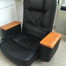 天然木肘付き回転座椅子