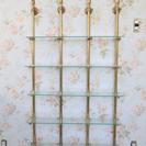 【渋谷区】アンティークのガラス棚.【手渡し】