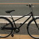 27インチ シティークロス 無印 自転車 つや消し黒
