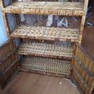 棚 アジアンバリ風 飾り棚