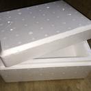 新品未使用の発泡の箱