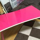 折りたたみピンクテーブル