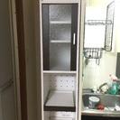 収納棚 食器、炊飯器など