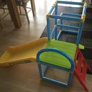 トーマス室内用遊具 ジャングルジム&滑り台