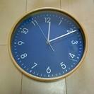 96 曲木時計 ネイビー 中古品 1年使用