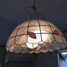 カスピ貝シェードのペンダント照明