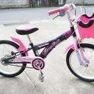 子供用自転車/18インチ/黒ピンク ★Fancy girl★