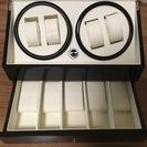 【送料込】時計収納ケース 4本同時巻き ワインディング