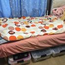 無印良品脚付きマットレスベッドs