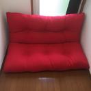 背もたれソファー(赤)