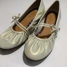 値下げ 発表会 22センチ 女児 シャンパンベージュエナメル靴