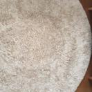 ホワイト×アイボリー ラグマット 150×150