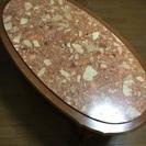 美品!大理石をはめ込んだねこ脚テーブル