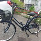 普通の26インチ自転車 程度良好!紺色