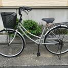 中古自転車26 インチ シルバー!