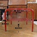 ガラステーブル(正方形)赤