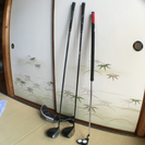 ゴルフパターとドライバー
