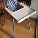 IKEA ハイチェア テーブル、クッション付き