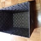 カラーボックスの棚にぴったりサイズの布製フタ付きボックス