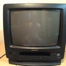 SHARPブラウン管テレビデオ