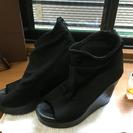 ジャイロホワイト 布ブーツ 黒 Lサイズ