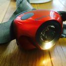 美品 モンベル ヘッドライト 電池式 オレンジ