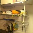キッチン吊り棚下2段収納ラック