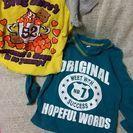 ドラッグストアーズTシャツ70と西松屋の長袖Tシャツ90