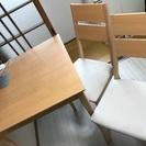 交渉中。更に値下げ!1500円★テーブル、椅子の3点セット二人席用...