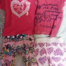 女の子半袖2枚とズボン2枚☆8090☆ラブレボ、マザウェイズ、ティ...