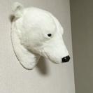 アニマルヘッド(白熊)壁掛けインテリア