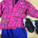 ▼値下げ▼子供用スキーウェアとブーツ、コート