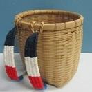 【背負いかご】竹製◆サイズ小◆籠◆山菜取り◆カゴ◆古民具