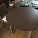 【引取のみ】【中古】木製丸テーブル 直径90cm 高さ約80cm ...
