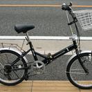 商談中20インチ 折りたたみ 変速付 黒 自転車