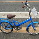 20インチ 折りたたみ 青 自転車