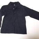 ◆100円SAIL◆紺色の長袖ポロシャツ(サイズ100)