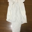 【中古品】授乳用パジャマ2枚(Lサイズ)、白と黒