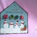 【良品】クリスマス雑貨 スノーマン・(雪だるま)マグネットプレート