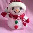 【中古】クリスマス雑貨 光るスノーマン(雪だるま)